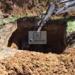 Подготовка котлована для монтажа погреба