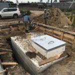 Погреб Волжанин 3 смонтирован внутри фундамента