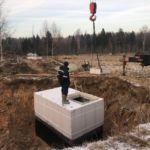 Погреб Волжанин 2 опущен в подготовленный котлован