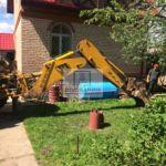 Подготовка котлована для монтажа погреба-кессона Волжанин 2