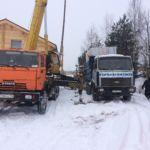 Процесс монтажа погреба-кессона Волжанин